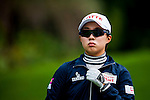 Hyo-Joo Kim of Korea looks on during the Hyundai China Ladies Open 2014 practice day on December 11 2014 at Mission Hills Shenzhen, in Shenzhen, China. Photo by Xaume Olleros / Power Sport Images