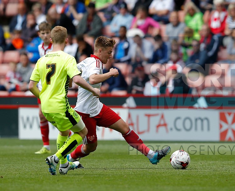 Harvey Gilmour of Sheffield Utd in action during the PDL U21 Final at Bramall Lane Sheffield. Photo credit should read: Simon Bellis/Sportimage