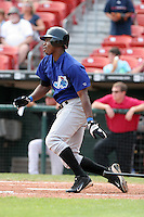 Norfolk Tides Rashad Eldridge during an International League game at Dunn Tire Park on August 6, 2006 in Buffalo, New York.  (Mike Janes/Four Seam Images)