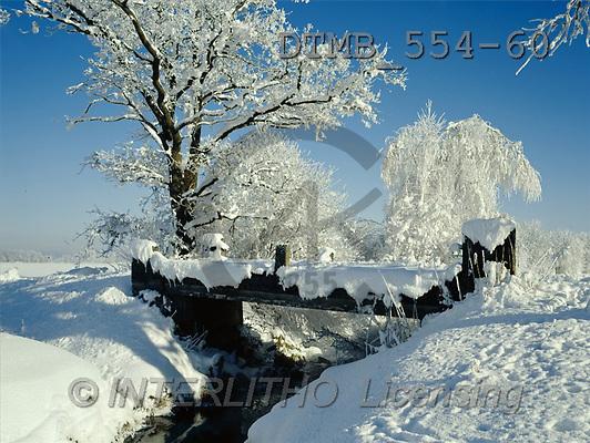Gerhard, CHRISTMAS LANDSCAPE, photos, BY.Am Moorbach bei Bergen im Chiemgau(DTMB554-60,#XL#) Landschaften, Weihnachten, paisajes, Navidad