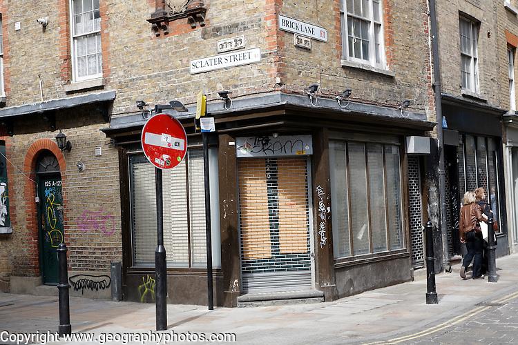 Street corner Brick Lane London
