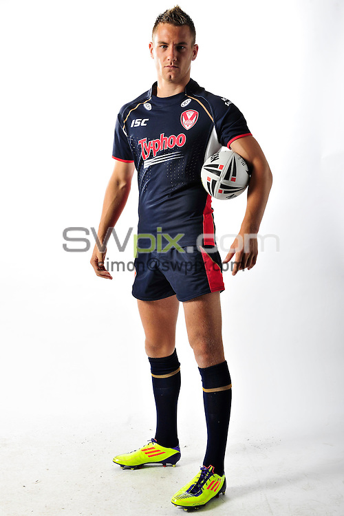 PICTURE BY VAUGHN RIDLEY/SWPIX.COM - Rugby League - ISC 2012 Super League Team Kit Shoot - 18/08/11- St Helens Saints Jamie Foster.