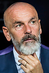 Manager Stefano Pioli of ACF Fiorentina looks on prior to the Santiago Bernabeu Trophy 2017 match between Real Madrid and ACF Fiorentina at the Santiago Bernabeu Stadium on 23 August 2017 in Madrid, Spain. Photo by Diego Gonzalez / Power Sport Images