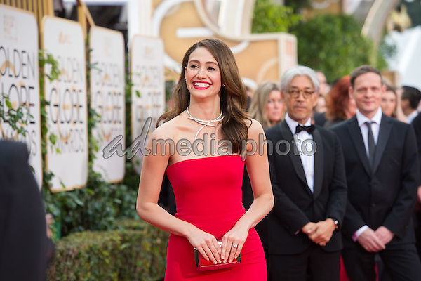 Actress Emmy Rossum attends the 73rd Annual Golden Globes Awards at the Beverly Hilton in Beverly Hills, CA on Sunday, January 10, 2016. Photo Credit: HFPA/AdMedia