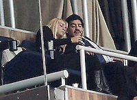 Football star Diego Armando Maradona with his new girlfriend