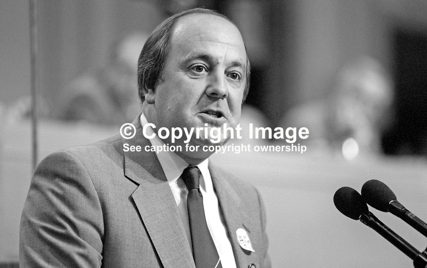 Alan Tuffin, general secretary, Union of Communications Workers, UK, speaking at TUC Conference, September 1986. 19860901AT1<br /> <br /> Copyright Image from Victor Patterson,<br /> 54 Dorchester Park, Belfast, UK, BT9 6RJ<br /> <br /> t1: +44 28 90661296<br /> t2: +44 28 90022446<br /> m: +44 7802 353836<br /> <br /> e1: victorpatterson@me.com<br /> e2: victorpatterson@gmail.com<br /> <br /> For my Terms and Conditions of Use go to<br /> www.victorpatterson.com