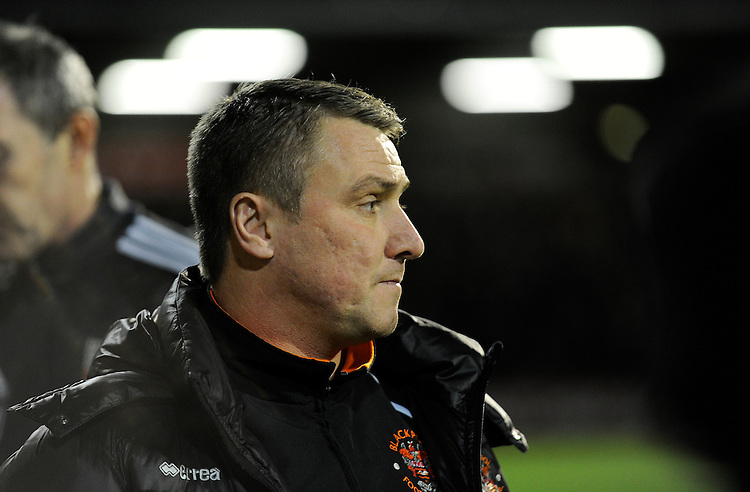 Blackpool manager Lee Clark <br /> <br /> Photographer Ashley Western/CameraSport<br /> <br /> Football - The Football League Sky Bet League One - Brentford v Blackpool - Tuesday 24th February 2015 - Griffin Park - London<br /> <br /> &copy; CameraSport - 43 Linden Ave. Countesthorpe. Leicester. England. LE8 5PG - Tel: +44 (0) 116 277 4147 - admin@camerasport.com - www.camerasport.com