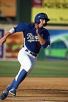 Tim Locastro (25) of the Rancho Cucamonga Quakes runs the bases during a game against the Inland Empire 66ers at LoanMart Field on September 6, 2015 in Rancho Cucamonga, California. Rancho Cucamonga defeated Inland Empire, 10-6. (Larry Goren/Four Seam Images)