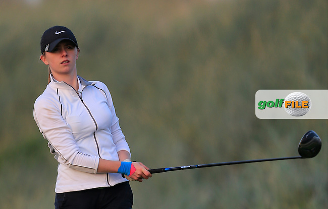 Rachel Taylor (TCD) on the 17th tee during Round 1 of the Irish Intervarsity Championship at Rosslare Golf Club on Wednesday 4th November 2015.<br /> Picture:  Thos Caffrey / www.golffile.ie
