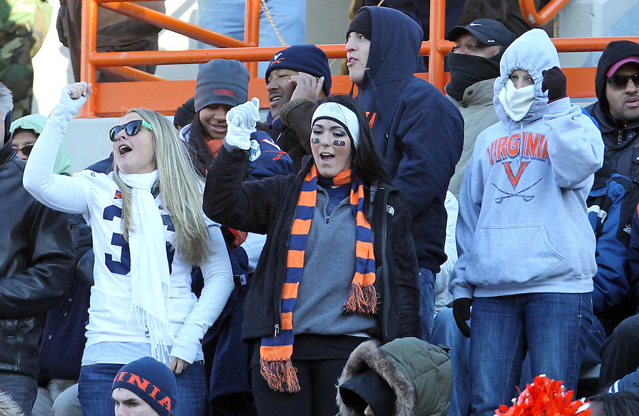 Nov 27, 2010; Charlottesville, VA, USA;  during the game at Lane Stadium. Virginia Tech won 37-7. Mandatory Credit: Andrew Shurtleff
