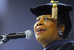 U.S. Rep. Sheila Jackson Lee says a few words at the Texas Southern University commencement Saturday May 16,2009.(Dave Rossman/For the Chronicle)