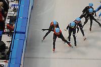 OLYMPICS: SOCHI: Iceberg Skating Palace, 13-02-2014, Shorttrack, 5000m Relay Men, Semifinals, ©photo Martin de Jong