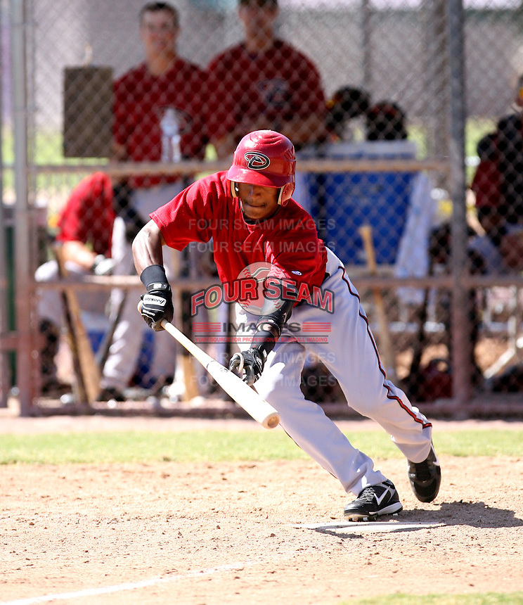 Ollie Linton / Arizona Diamondbacks 2008 Instructional League..Photo by:  Bill Mitchell/Four Seam Images