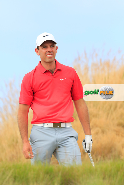 Charl Schwartzel (RSA) on the 16th tee during Thursday's Round 1 of the 2015 U.S. Open 115th National Championship held at Chambers Bay, Seattle, Washington, USA. 6/19/2015.<br /> Picture: Golffile | Eoin Clarke<br /> <br /> <br /> <br /> <br /> All photo usage must carry mandatory copyright credit (&copy; Golffile | Eoin Clarke)