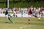 30.06.18 Linlithgow Rose v Hibs: John McGinn lets rip but misses