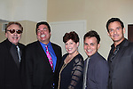 Guiding Light's Sean McDermott poses with Ken Lundie, Dale Badway (host), Barbra Porteus, Mitch McConnell (they all sang at the cabaret) - The 29th Annual Jane Elissa Extravaganza which benefits The Jane Elissa Charitable Fund for Leukemia & Lymphoma Cancer, Broadway Cares and other charities on November 14, 2016 at the New York Marriott Hotel, New York City presented by Bridgehampton National Bank and Walgreens.  The event is a Cabaret with singers Sean McDermott (Guiding Light), Barbra, Mitch and Dale and Ken Lundie was on piano.  (Photo by Sue Coflin/Max Photos)