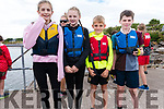 Kíla Massett, Nicola Nash, Leo Browne and Eoin Fenton ready for the U12 race at the Ventry Regatta on Sunday afternoon.
