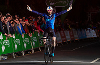 Picture by Alex Whitehead/SWpix.com - 22/05/2018 - Cycling - OVO Energy Tour Series Men's Race - Round 4b: Durham - Andy Tennant of Canyon Eisberg celebrates the win.
