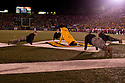 08 October 2009:  Pushups after a 3 point field goal in the third quarter against Nebraska at at Memorial Stadium, Columbia, Missouri. Nebraska defeated Missouri 27 to 12.
