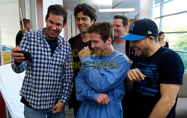 Director/writer/producer Doug Ellin with Adrian Grenier, Kevin Connolly, Kevin Dillon and Jerry Ferrara on the set of the Warner Bros. Pictures,' Home Box Office's and RatPac-Dune Entertainment's comedy &quot;ENTOURAGE,&quot; a Warner Bros. Pictures release.<br /> *Filmstill - Editorial Use Only*<br /> CAP/NFS<br /> Image supplied by Capital Pictures