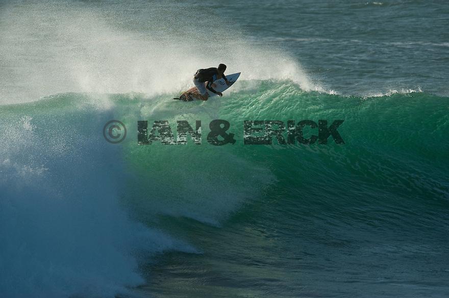 Ian Walsh doing a floater at Jake's Point in Kalbarri, Western Australia.