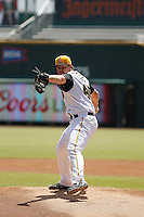 Jacksonville Suns pitcher Austin Brice (40) on the mound during a game against the Tennessee Smokies at Bragan Field on the Baseball Grounds of Jacksonville on June 13, 2015 in Jacksonville, Florida.  Tennessee defeated Jacksonville 12-3. (Robert Gurganus/Four Seam Images)