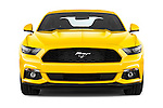Car photography straight front view of a 2016 Ford Mustang EcoBoost 2 Door Coupe Front View