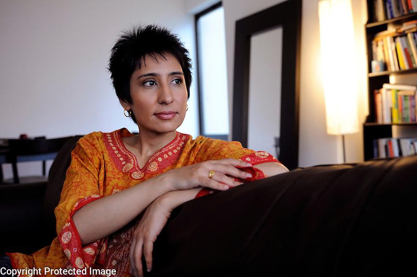 USA. New York. 4th June 2008..Irshad Manji photographed in her apartment in Soho, Manhattan..©Andrew Testa