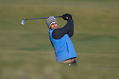 5th October 2017, The Old Course, St Andrews, Scotland; Alfred Dunhill Links Championship, first round; Aaron Rai of England hits a shot from the fairway on the fourteenth hole on the Old Course, St Andrews at the Alfred Dunhill Links Championship