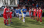 Brechin City form a guard of honour for SPFL League One champions Rangers