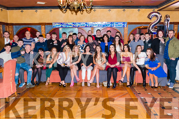 Kate Doran from Firies celebrated her 21st birthday surrounded by friends and family in the Avenue Hotel, Killarney last Saturday night.