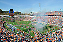 An overall view of Scott Stadium in Charlottesville, VA, during a game between tVirginia and Maryland on October 7, 2012. (AP Photo/Chris Bernacchi)