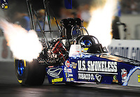 Oct. 31, 2008; Las Vegas, NV, USA: NHRA top fuel dragster driver Larry Dixon during qualifying for the Las Vegas Nationals at The Strip in Las Vegas. Mandatory Credit: Mark J. Rebilas-