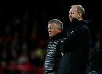 Chris Wilder manager of Sheffield Utd and Alan Knill Assistant manager of Sheffield Utd  during the Premier League match at Bramall Lane, Sheffield. Picture date: 5th December 2019. Picture credit should read: Simon Bellis/Sportimage