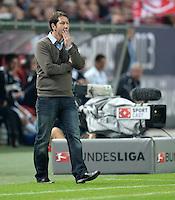 FUSSBALL 1. BUNDESLIGA   SAISON   2012/2013: RELEGATION   RUECKSPIEL 1. FC Kaiserslautern - TSG 1899 Hoffenheim         27.05.2013 Trainer Franco Foda (1. FC Kaiserslautern) enttaeuscht an der Seitenlinie