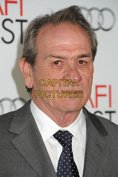 "Tommy Lee Jones.AFI FEST 2012 ""Lincoln"" Closing Night Gala Screening held at Grauman's Chinese Theatre, Hollywood, California, USA, 8th November 2012..portrait headshot grey gray white shirt polka dot black tie .CAP/ADM/BP.©Byron Purvis/AdMedia/Capital Pictures."