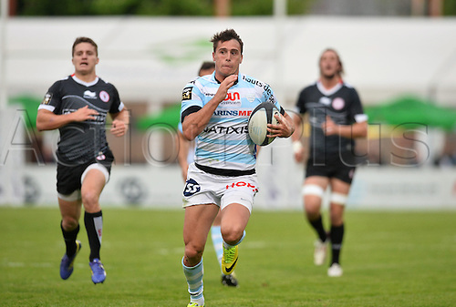 12.04.2014. Paris, France. Top 14 Rugby Union. Racing Metro versus Biarritz.  Juan Imhoff (rm)