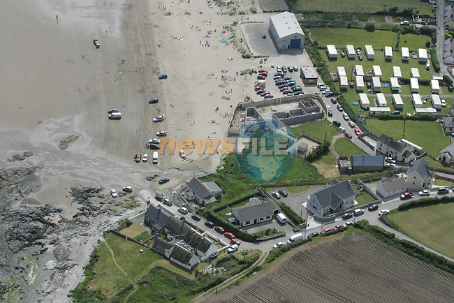 Aerial view of Clogherhead Strand with the caravan park in view. 04/06/06...Photo NEWSFILE/Fran Caffrey.(Photo credit should read Fran Caffrey/NEWSFILE)....This Picture has been sent you under the condtions enclosed by:.Newsfile Ltd..The Studio,.Millmount Abbey,.Drogheda,.Co Meath..Ireland..Tel: +353(0)41-9871240.Fax: +353(0)41-9871260.GSM: +353(0)86-2500958.email: pictures@newsfile.ie.www.newsfile.ie.FTP: 193.120.102.198...This picture is from Fran Caffrey@newsfile.ie