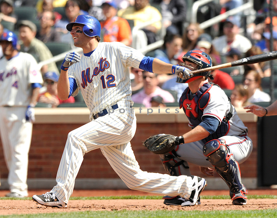 JEFF FRANCOEUR of the New York Mets, in action during the Mets game against the Atlanta Braves at CitiField in New York, NY on April 24, 2010...The Mets win 3-1