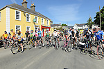 Cyclists line up for the start of the annual Dromin charity cycle. Photo:Colin Bell/pressphotos.ie