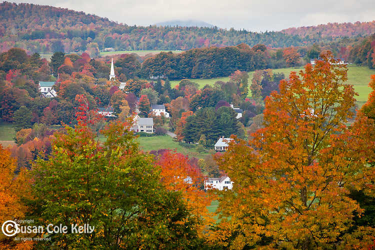 Fall foliage in Peacham, VT, USA