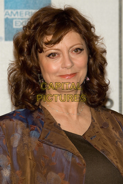 "SUSAN SARANDON.2008 Tribeca Film Festival - Premiere of ""Speed Racer"" at the Tribeca Performing Arts Center,  New York, NY, USA,.May 3, 2008..portrait headshot.CAP/LNC/TOM.©LNC/Capital Pictures"