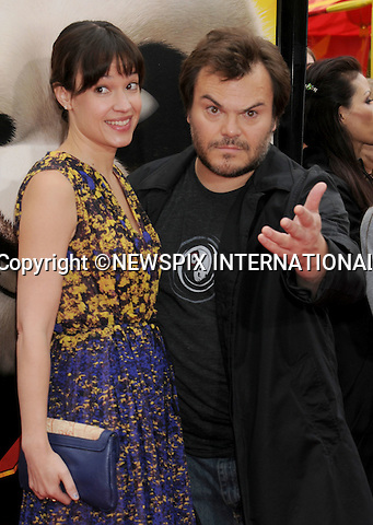 "JACK BLACK AND WIFE TANYA HAYDEN.attend the Los Angeles Premiere of ""Kung Fu Panda 2"" at the Grauman's Chinese Theatre, Hollywood, California_22/05/2011.Mandatory Photo Credit: ©Crosby/Newspix International..**ALL FEES PAYABLE TO: ""NEWSPIX INTERNATIONAL""**..PHOTO CREDIT MANDATORY!!: NEWSPIX INTERNATIONAL(Failure to credit will incur a surcharge of 100% of reproduction fees)..IMMEDIATE CONFIRMATION OF USAGE REQUIRED:.Newspix International, 31 Chinnery Hill, Bishop's Stortford, ENGLAND CM23 3PS.Tel:+441279 324672  ; Fax: +441279656877.Mobile:  0777568 1153.e-mail: info@newspixinternational.co.uk"