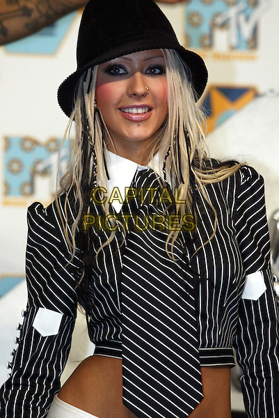 CHRISTINA AGUILERA.MTV Music Awards.Barcelona, 14th November 2002.www.capitalpictures.com.sales@capitalpictures.com.©Capital Pictures