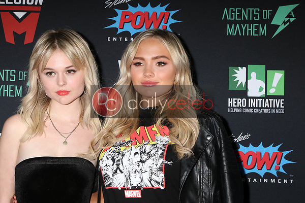 """Emily Alyn Lind, Natalie Alyn Lind<br /> at """"Excelsior! A Celebration of the Amazing, Fantastic, Incredible & Uncanny Life of Stan Lee,"""" TCL Chinese Theater, Hollywood, CA 01-30-19<br /> David Edwards/DailyCeleb.com 818-249-4998"""
