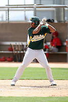 Robin Rosario, Oakland Athletics 2010 extended spring training..Photo by:  Bill Mitchell/Four Seam Images.