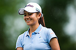 CHON BURI, THAILAND - FEBRUARY 16:  Ai Miyazato smiles on the 17 hole during day one of the LPGA Thailand at Siam Country Club on February 16, 2012 in Chon Buri, Thailand.  Photo by Victor Fraile / The Power of Sport Images