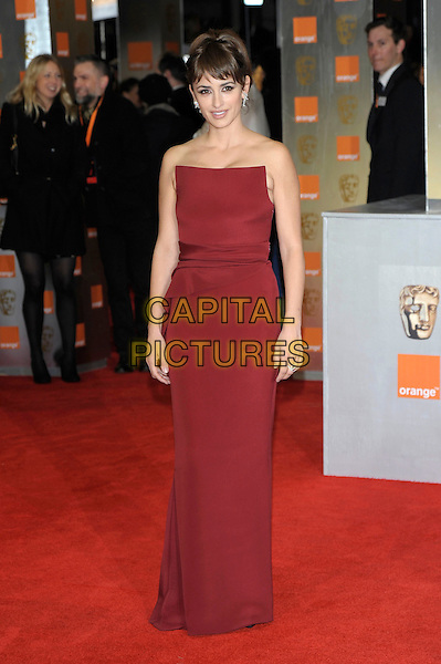Penelope Cruz .The Orange British Academy Film Awards ( BAFTA ), Royal Opera House, Bow St., London, England..February 12th, 2012.baftas full length red dress strapless long maxi long maxi .CAP/PL.©Phil Loftus/Capital Pictures.