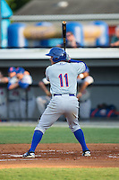 Dionis Rodriguez (11) of the Kingsport Mets at bat against the Burlington Royals at Burlington Athletic Stadium on July 18, 2016 in Burlington, North Carolina.  The Royals defeated the Mets 8-2.  (Brian Westerholt/Four Seam Images)