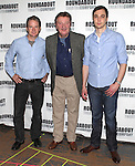 Peter Benson, Larry Bryggman & Jim Parsons.attending the Meet & Greet for the Roundabout Theatre Company's Broadway Production of 'Harvey' at their Rehearsal Studios in New York City. 4/20/2012 © Walter McBride/WM Photography .